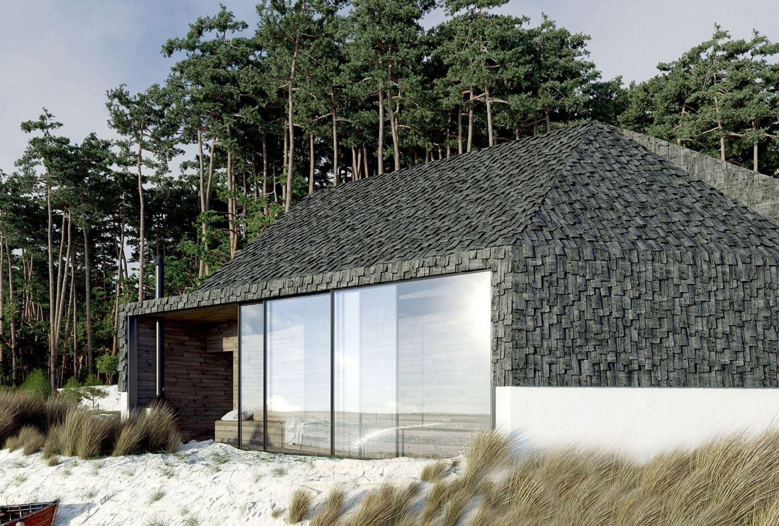 Dom przy plaży o pow. 54 m2. Projekt: Anna Adamowicz, Filip Gołasz, Damian Machnik, Zakład Usług Projektowo-Architektonicznych ZUP-A