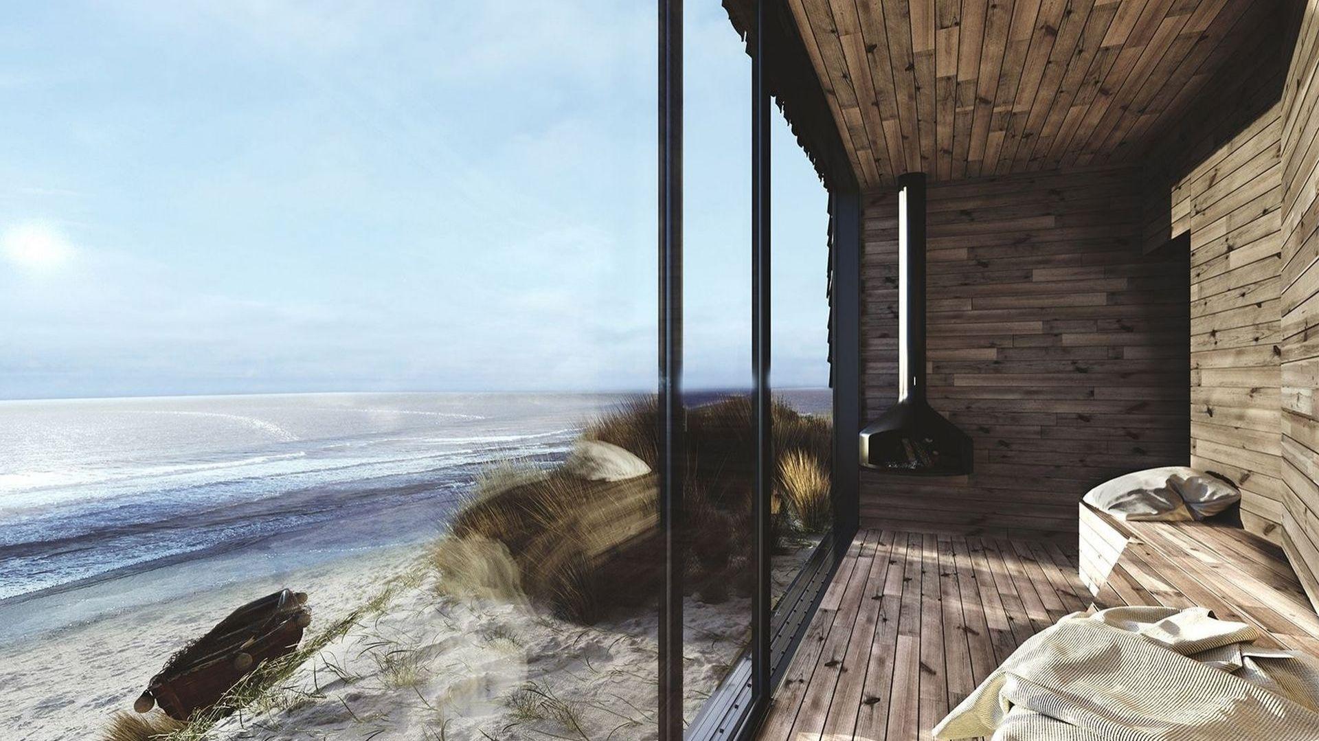 Wakacyjny dom przy plaży wpisany w nadmorski krajobraz. Projekt: Anna Adamowicz, Filip Gołasz, Damian Machnik, Zakład Usług Projektowo-Architektonicznych ZUP-A