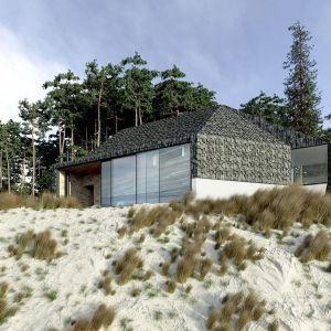 Dom przeznaczony jest dla 2 osób lub małej rodziny. Projekt: Anna Adamowicz, Filip Gołasz, Damian Machnik, Zakład Usług Projektowo-Architektonicznych ZUP-A