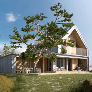 Projekt: Malutki 4, pracownia DOMYwStylu.pl. Szacunkowy koszt budowy: 227 006 zł (SSZ)