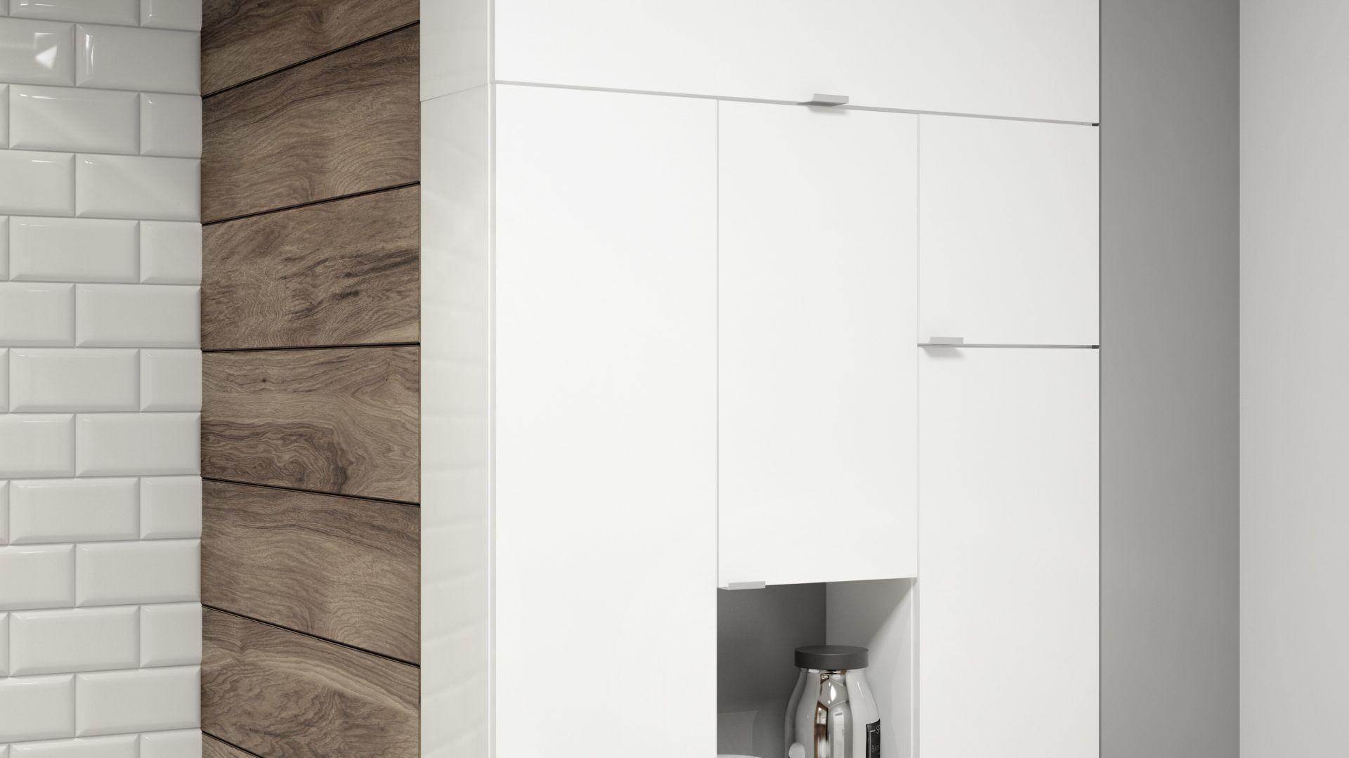 W łazienkach, w których każdy centymetr jest na wagę złota warto także rozważyć możliwość zastosowania mebli modułowych. Kolekcja mebli Multi Open. Fot. NAS