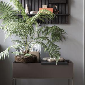 Kwietnik Plant Box marki Ferm Living. Stojak wykonany z metalu lakierowanego proszkowo sprawdzi się nie tylko jako kwietnik, ale również jako stojak na książki, zabawki, magazyny, a nawet jako podręczny barek. 855 zł, Ferm Living