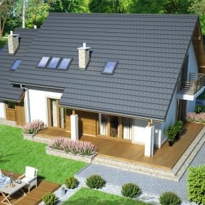 Dom świetnie wpisze się w każde otoczenie, wyróżniają się przy tym swoim oryginalnym stylem. Nazwa projektu: Tamarillo 6. Projekt wykonano w Pracowni Archand