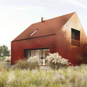 Budynek może być wykończony blachą falistą lub struktonitem. Projekt: Domy z Głową, Pracownia Architektury Głowacki