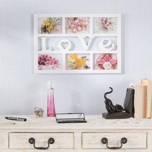Kolorowe zdjęcia w białej ramce Love 48×2×33 cm - cena 38,70 zł Fot. Dekorai.pl