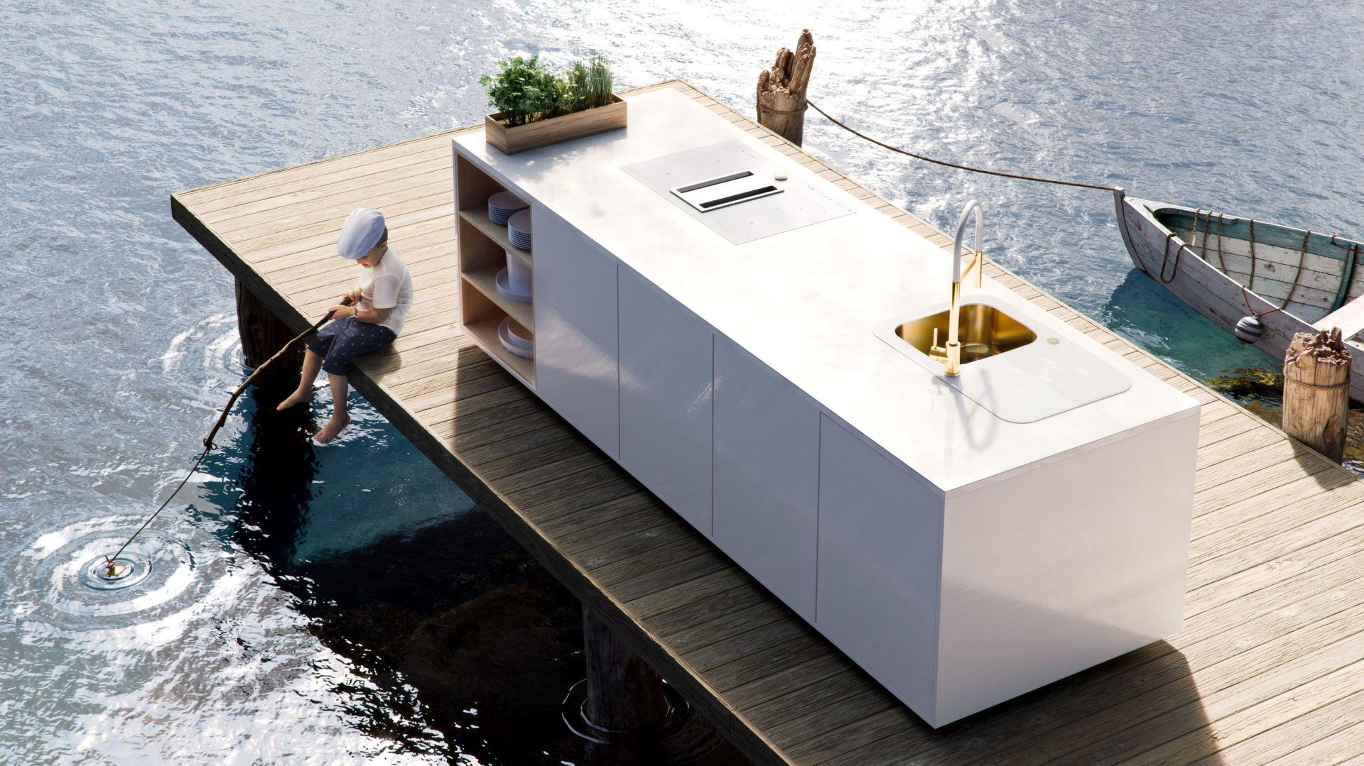 Wyobraź sobie kuchnię w... środowisku naturalnym. Epilog Studio motyw jezioro