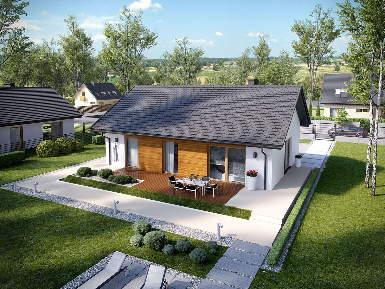 Projekt Kornel V Energo, pow. 90,97 m. Szacunkowy koszt budowy: 270 tys. zł (stan deweloperski). Pracownia projektowa Archipelag
