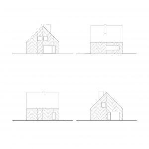 Elewacje domu. Fot. Supergut Studio