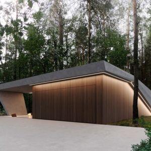 Powierzchnia całkowita domu to 220 m². Projekt: Marcin Tomaszewski, pracownia REFORM Architekt