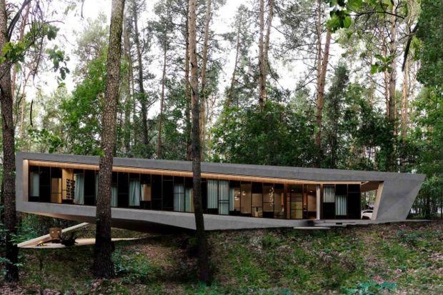 Na leśnej działce zlokalizowanej w okolicy Łodzi powstanie bezpieczny dom dla dojrzałych inwestorów. Projekt powstałdzięki wizji ze snu, w oparciu o kształt kalifornijskiego drzewa Joshua Tree.
