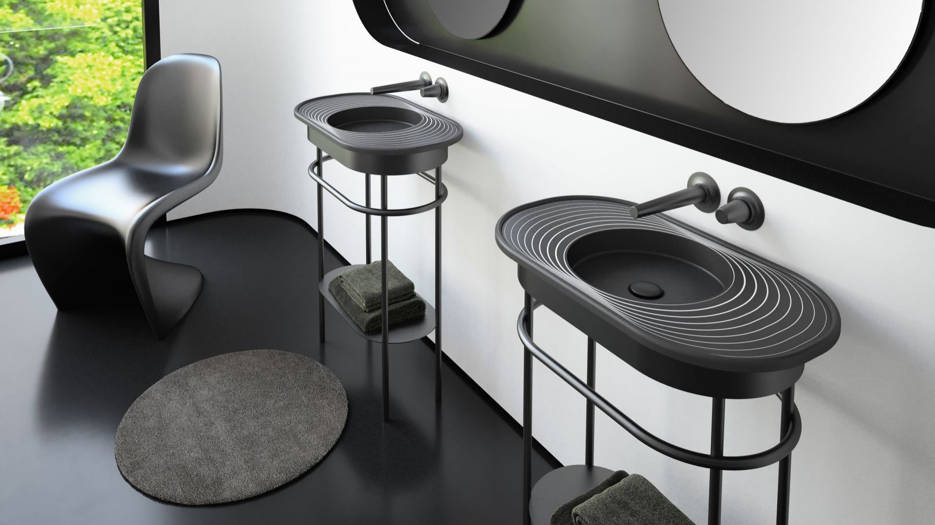 Lap Plus to nowa umywalka zaprojektowana przez Karima Rashida dla włoskiej marki Glass Design. Fot. Glass Design
