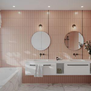Stylowa łazienka w przedwojennej willi w Warszawie. Projekt wnętrz: JMW Architekci