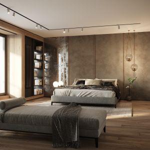 Sypialnia w modernistycznej przedwojennej willi. Projekt wnętrz: JMW Architekci