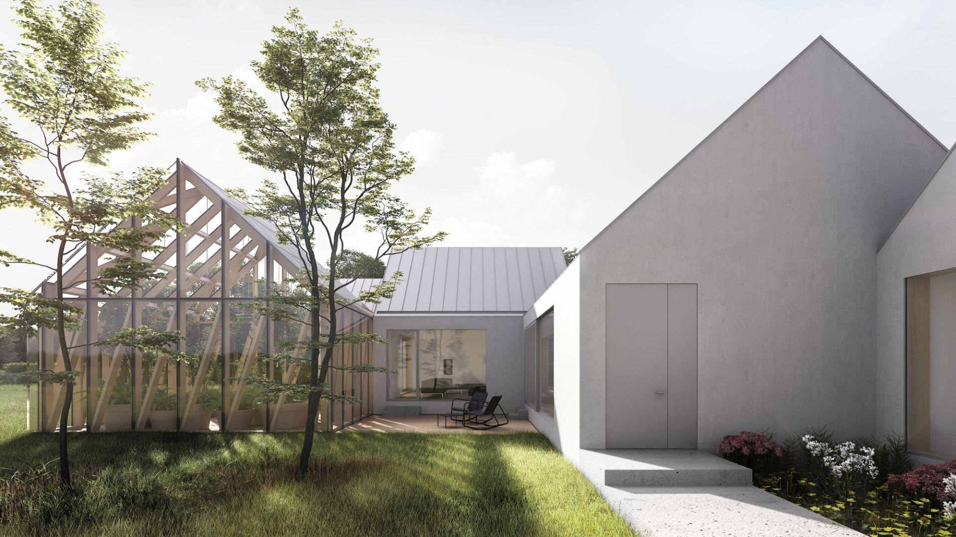 Ten dom zaprojektowano aby mieszkańcy byli blisko natury. Autorzy projektu: Magdalena Tokarska, Piotr Tokarski, pracownia projektowa: TTAT
