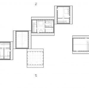 Rzut piętra. Dom Rozłożony. Autorzy projektu: Magdalena Tokarska, Piotr Tokarski, pracownia projektowa: TTAT
