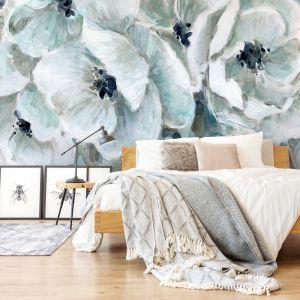 Tapeta z kwiatami w wersji XL. Projekt Carol Robinson dla Wallsaucecom