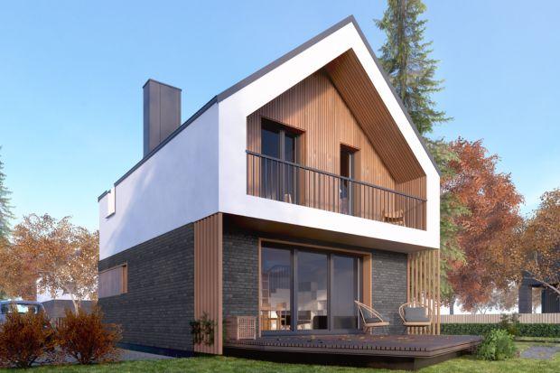 Ten dom, mimo małego metrażu, jest naprawdę funkcjonalny. Można go postawić na małej działce, a dodatkowym atutem jest spory taras.