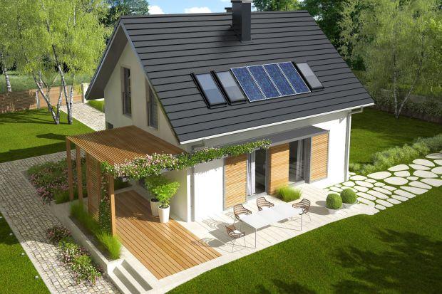 Dom o powierzchni 71 m2 może być ciekawą alternatywą dla mieszkania w bloku. Nowoczesny charakter projektu podkreśla ciekawie pomyślany taras z zadaszeniem. Zobaczcie ten projekt!