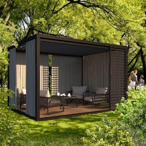 Pergole to rozwiązanie znacznie solidniejsze niż parasole lub namioty ogrodowe. Fot. Cube Garden