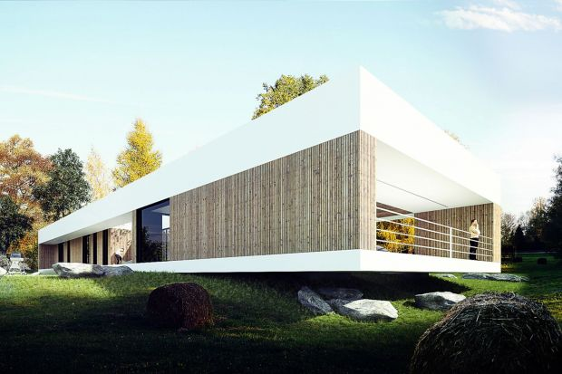 Dom nad Czarną Przemszą to projekt nowoczesnego domu w formie parterowego pawilonu.Stoją za nim Adam Zwierzyński i Anna Porębska z pracowni MUS Architects.