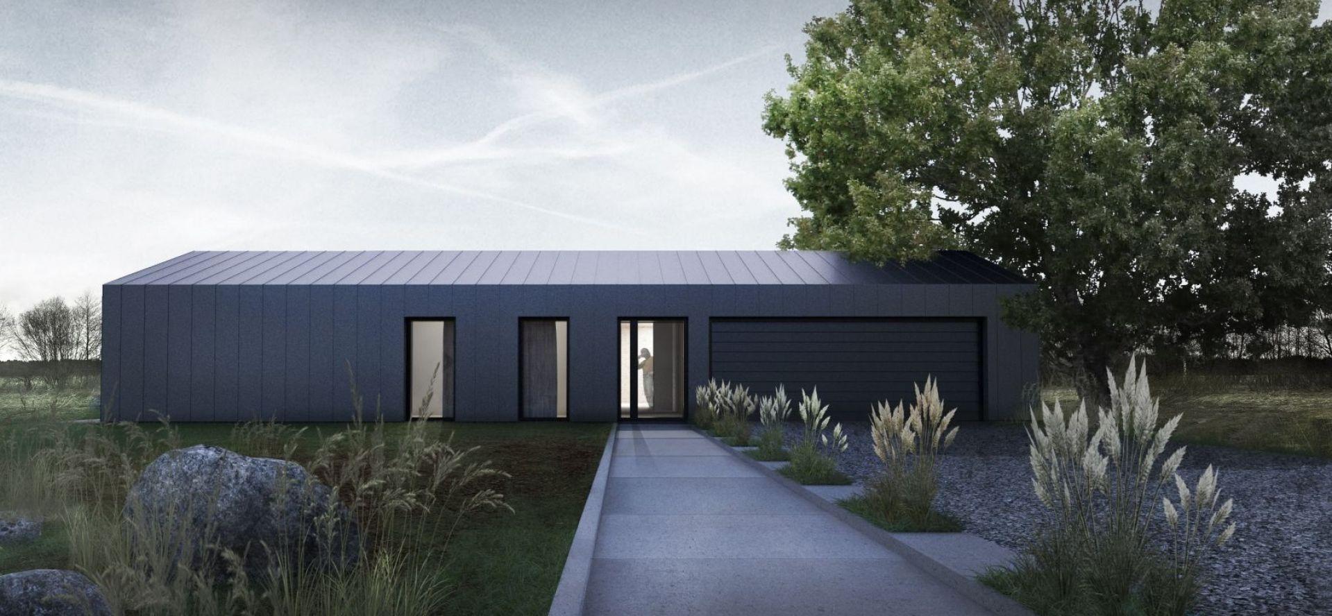 Dom pod Łodzią powstał ze starej stodoły. Projekt i wizualizacje: Yatta Architekci