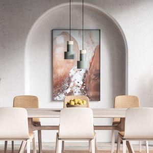 Abstrakcja IX, żywica epoksydowa, 140 x 140 cm. Autorka obrazu: Katarzyna Pander-Liszka. Fot. kasialiszka.art