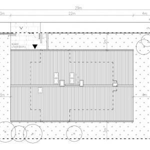 Dom z werandą. Usytuowanie na działce. Projekt: Domy z Głową, Pracownia Architektury Głowacki