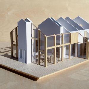 Dom z werandą. Konstrukcja domu. Projekt: Domy z Głową, Pracownia Architektury Głowacki