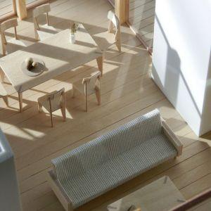 Dom z werandą. Przykład wizualizacji wnętrza. Projekt: Domy z Głową, Pracownia Architektury Głowacki