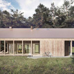 Dom ma powierzchnię 170 m2. Dom z werandą. Projekt: Domy z Głową, Pracownia Architektury Głowacki