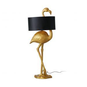 Stylowa lampa podłogowa Flamingo o wysokości 142 cm. Taka dekoracja w modnym złocie doda charakteru każdemu wnętrzu. 1599 zł, Dekoracja Domu, www.dekoracjadomu.pl