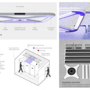 """""""Lux"""" (Juan Restrepo, Holandia): Inteligentny system dezynfekcji w przestrzeni publicznej oparty na promieniowaniu UV."""