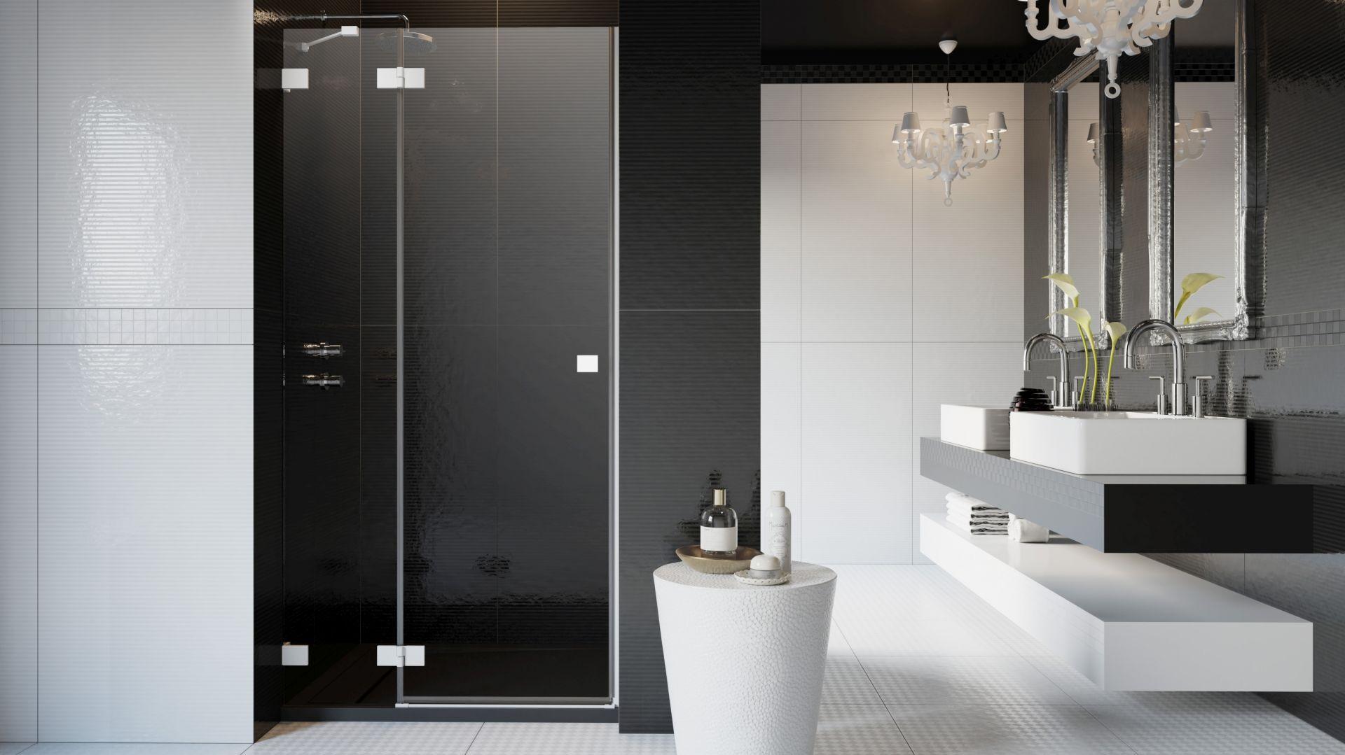 Seria kabin prysznicowych Essenza Pro dostępna jest w czterech kolorach: chrom, czarnym, złotym oraz białym. Dostępna w ofercie firmy Radaway. Cena od 1.440 zł. Fot. Radaway