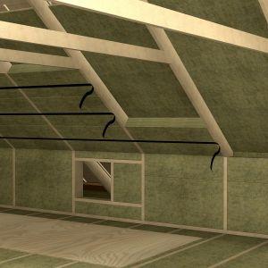 Aby zapewnić swobodny ruch powietrza poprzez przegrodę, wykonujemy zarówno wlot w okapie, jak i wylot w kalenicy dachu. Fot. Paroc