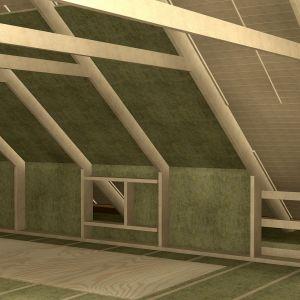 Zewnętrzne pokrycie dachu i przestrzeń poddasza potrzebują odpowiedniej wentylacji. Dlatego niezwykle ważne jest, aby pomiędzy izolacją, a pokryciem dachowym zachować szczelinę o szerokości 3-6 cm, która usunie nadmiar wilgoci z konstrukcji. Fot. Paroc