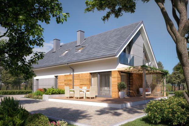 Ten dom dla 4-5 osobowej rodziny to propozycja na mniejszy budżet. Dwuspadowy dach i prosta bryła oznacza niższe koszty budowy, ale i mniejsze rachunki za ogrzewanie!