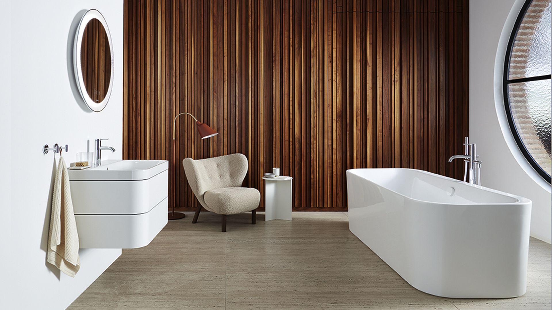 Nowe warianty obszaru mycia można idealnie łączyć ze wszystkimi elementami z serii Happy D.2 i Happy D.2 Plus, zapewniając spójny design wszystkich elementów w łazience. Fot. Happy D.2 Plus Duravit