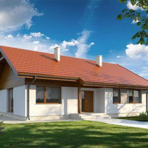 Projekt drewnianego domu Bilbo 2. Pow. użytkowa 98 m2 + 32,71 m garaż, minimalne wymiary działki 20,51x19,38 m. Szacunkowy koszt budowy: ok. 248 zł (stan wykończeniowy), pracownia Archetyp, fot. Archetyp