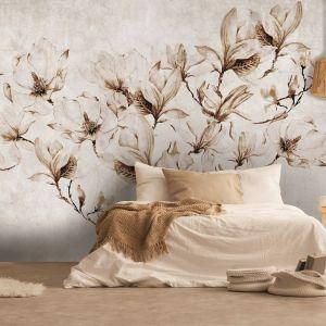 Dekoracyjna tapeta z motywem przeskalowanej rośliny Instabilelab california.