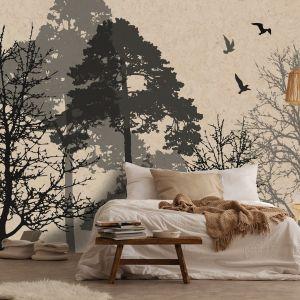 Tapeta z mowtywem drzew Instabilelab stilistica