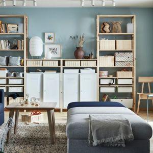Półki i szafki z kolekcji Ivar (4 sekcje) dostępne w ofercie IKEA. Cena: 1. 868 zł. Fot. IKEA