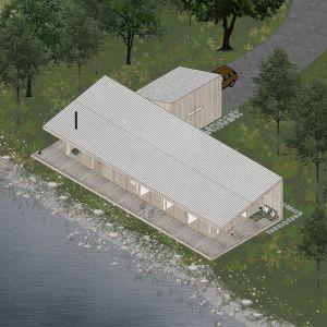 Dom na powierzchnię 120 metrów kwadratowych. Projekt: Mateusz Frankowski, Paweł Lipiński, Fryderyk Graniczny, biuro architektoniczne Ggrupa