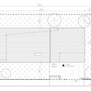 Usytuowanie domu na działce. Projekt: Dom za Żaluzjami, seria Domy z Głową, Pracownia Architektury Głowacki