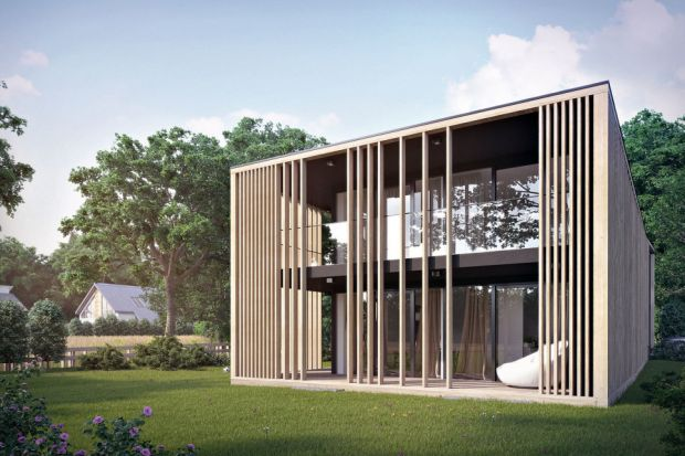 Wyróżnikiem tego nowoczesnego domu są oryginalne drewniane żaluzje na elewacji, które zapewniają mieszkańcom intymność oraz osłaniają od słońca. A przy tym jak wyglądają! Zobaczcie projekt zPracowni Architektury Głowacki.