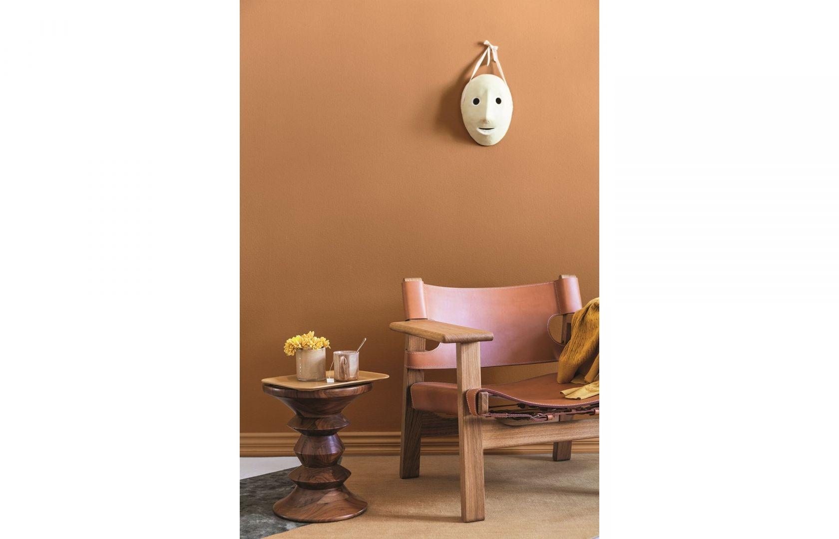Ściany zostały pomalowane farbą Tikkurila Optiva Matt w kolorze L396 Beeswax. Cena: ok. 965 zł (2,7 l). Fot. Tikkurila