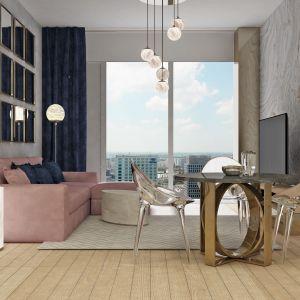 Dobrym początkiem może okazać się delikatnie użylona, alabastrowa rama lustra. Starannie zaprojektowana, doskonale odnajdzie się w roli kominkowej dekoracji, toaletkowej ozdoby lub wyposażenia garderoby. Projekt wnętrza Alina Badora