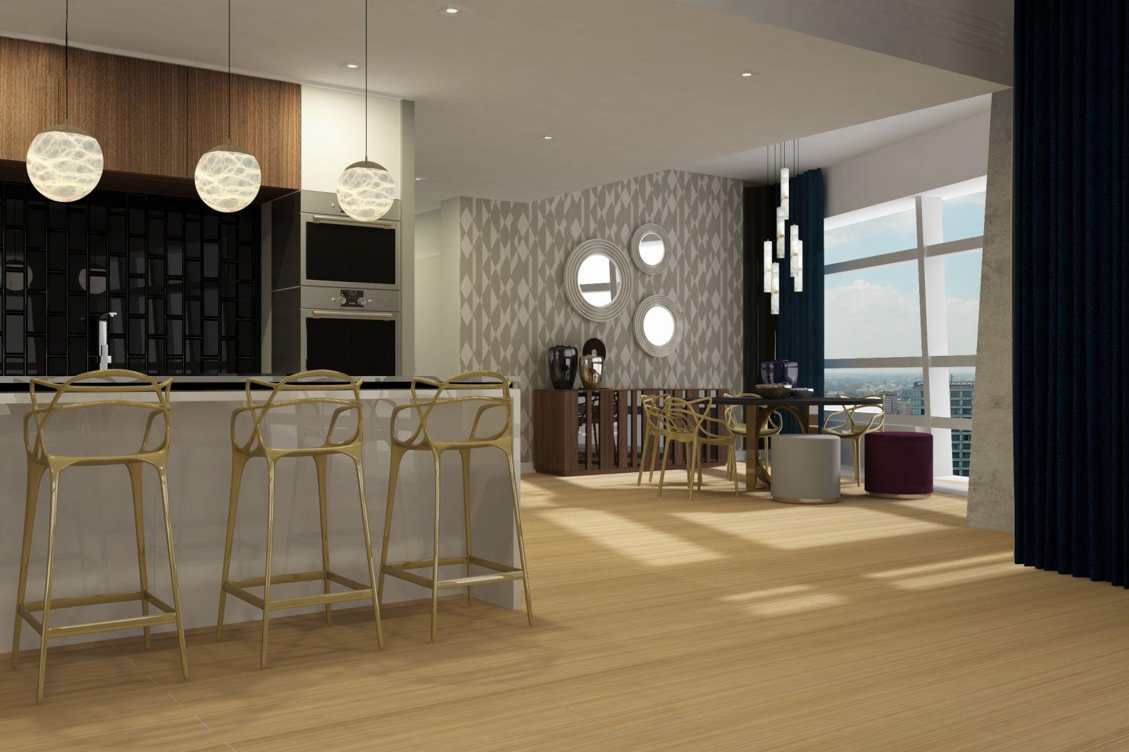 Kamień sprawdzi się począwszy od eleganckich stolików kawowych, stanowiących oryginalne uzupełnienie zarówno klasycznych, jak i nowoczesnych aranżacji, aż po bardziej odważne i wymagające nieco większej przestrzeni  – bary, konsole czy stoliki szachowe. Projekt wnętrza Alina Badora