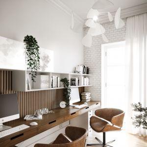 Wygodne miejsce do pracy w domu. Projekt i wizualizacje: Katarzyna Kacik, Aleksandra Poprawa, pracownia projektowa houm