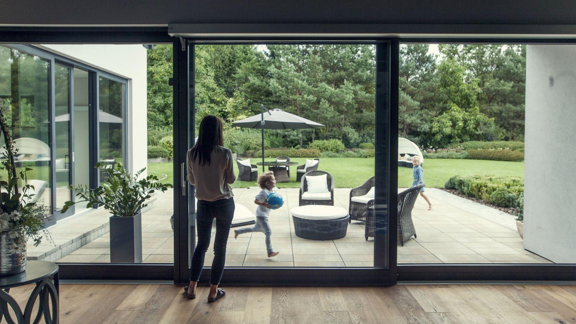 Drzwi tarasowe w wersji aluminiowej. fot. G-U Polska