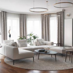 Klasyczna elegancja to pomysł na nowoczesny salon urządzony w tradycyjnym duchu.Projekt JT Group
